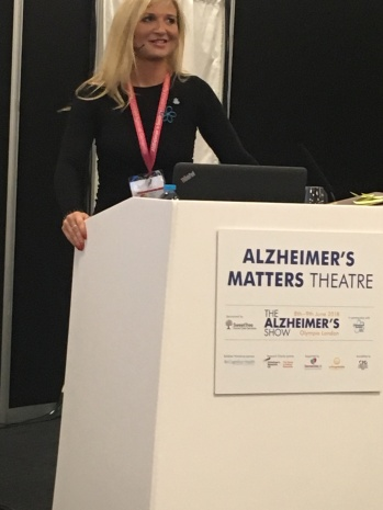 Presenting on living well with dementia at London's Alzheimer's Show 2018